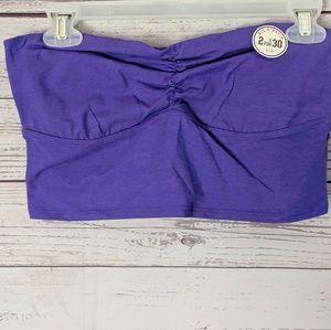 Pink Victoria Secret Bandeau Tube Top Purple Large